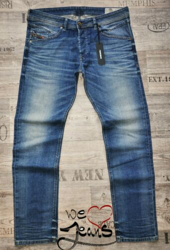 DIESEL Belther 0857N 36 40 L.32 NUOVO Tapered Uomo/Stretch Jeans Da Uomo Barbuto