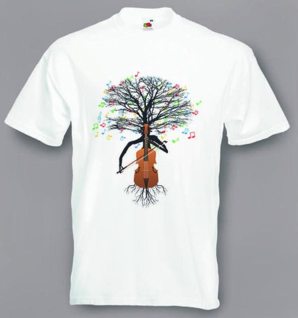 Cello T-Shirt Musik Cellist Baum Violoncello in Größen Kleine bis XXL