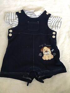 d9f0e3d94 Little Wonders 3-6 months boy two piece outfit shirt top overalls ...