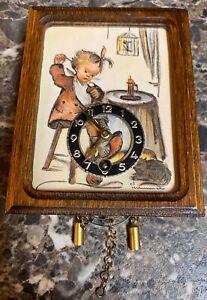 J-Engstler-Hummel-Novelty-Miniature-Wall-Clock-ARS-Edition-Vintage-1982-No-Key