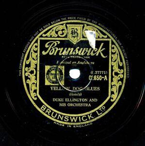 DUKE ELLINGTON on 1938 English Brunswick 02650 - Yellow Dog Blues / Louisiana