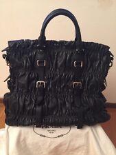 Authentic Prada Black BN1234 Nappa Gaufre'An Bag