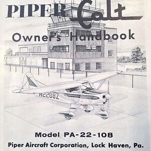 vintage piper colt pa 22 108 owner s handbook ebay rh ebay com Piper PA 22-108 Tail Wheel 20 Airplane PA