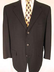 Corneliani Mens Black 3 Btn Wool Silk Sport Coat 46R/56R euro Italy Made