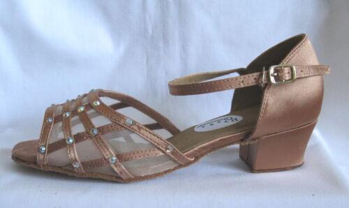 Latin Dance Shoes Silver Ballroom Ladies Black Salsa UK Sizes 3-9 Tan Red