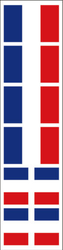 40 Removable Stickers France Party Favors Decals French Flag