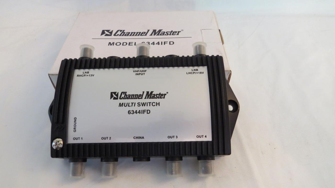 Channel Master 6344IFD 3X4 Way Multiswitch 2-Satellite Signal 1-UHF/VHF Antenna. Available Now for 20.00