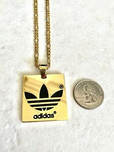 Playa acortar Inicialmente  Brand New, Stainless Steel Gold Adidas Pendant Necklace, 18
