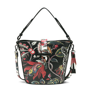 sale usa online cute cheap good texture Details zu DESIGUAL Bols Unexpected Caracas Negro, Damentasche Handtasche  Schultertasche