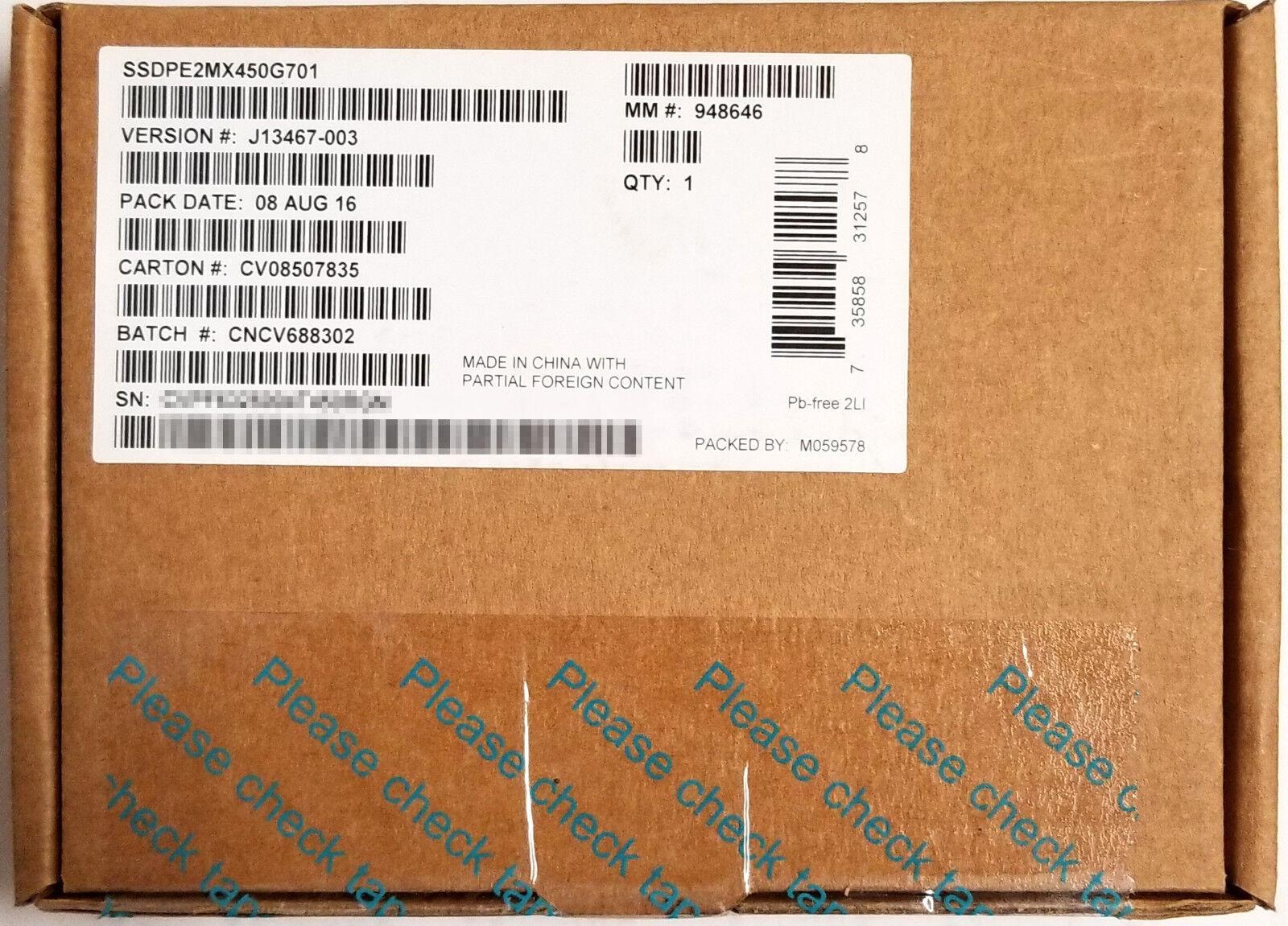Intel Solid-State Drive DC P3520 Series Solid State Drive Internal Pci/_X/_4 2.5 SSDPE2MX450G701