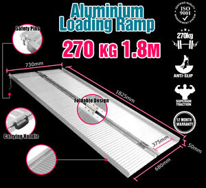 6FT-Folding-Aluminium-Loading-Ramps-270KG-Van-Trolley-Coffee-Machine-Portable