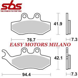 COPPIA-PASTIGLIE-SBS-ANTERIORE-168HF-DERBI-50-Senda-R-DRD-Racing-E2-2005-2008
