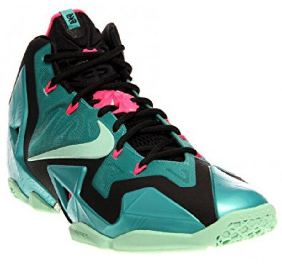 NIB Nike LeBron 11 XI South Beach Sport Turquoise/Medium Mint-Black  Mens 9.5