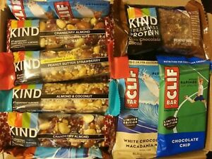 61 KIND BAR CLIF ENERGY BARS FRUIT NUT PROTEIN NUTRITION SNACK TREAT  FREE S/H!