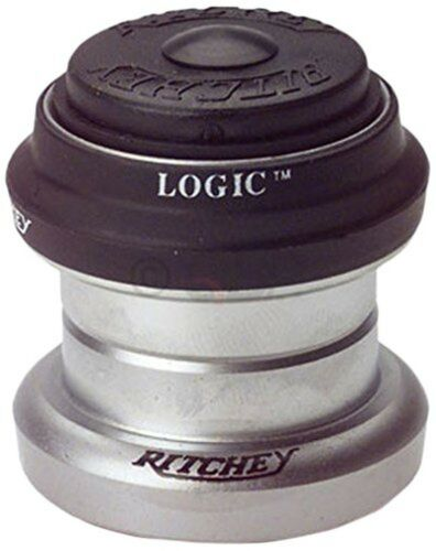 Silver 1-Inch Ritchey Logic Threadless Road Bicycle HeadSet