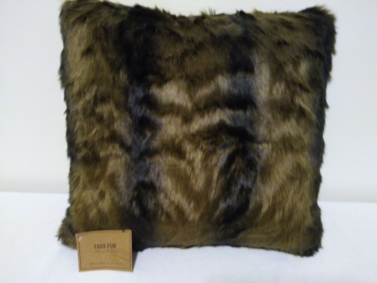 Picture of: Oversized Blush Mongolian Faux Fur Lumbar Pillow Pink By World Market For Sale Online Ebay