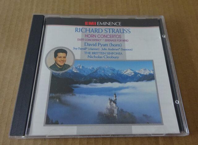 Richard Strauss: Horn Concertos, Pyatt, Farrall, Andrews, Britten Sinfonia (1995