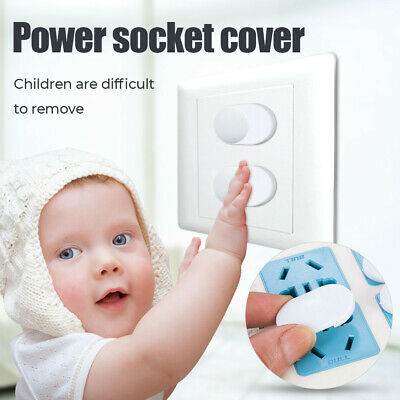 10X  EU Power Kids Bear Socket Covers Baby Guard Mains Safety Protector ABS HOT