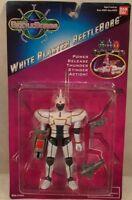 Beetleborgs White Blaster Beetleborg With Thunder Stinger Action Bandai (rare)