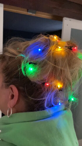 Light Up Hair Lights 18pc Christmas Hair Lights Fast Shippimg FUN Details about  /Hair Lights