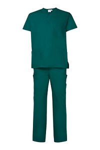 8f035479ce9 Image is loading NEW-Hunter-Green-Scrub-Set-Medical-Surgical-Nursing-