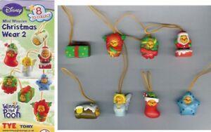 Set-8-Figures-Winnie-Pooh-Xmas-Christmas-2-Mini-Peek-A-Pooh-Tomy-New