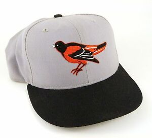 Baseball-Cap-Hat-BALTIMORE-ORIOLES-Gray-Black-New-Era-59Fifty-Fitted-6-7-8-S