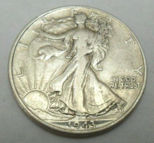 VERY FINE*   *FREE SHIPPING* 1943 S WALKING LIBERTY HALF DOLLAR   *VF