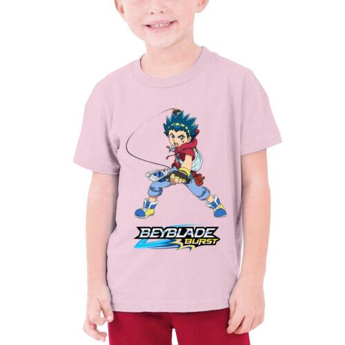 Beyblade Burst Evolution aoibaruto Kids Ados T-shirt en coton Chemise décontractée Tops