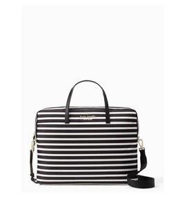 premium selection 9fce3 055e2 Details about Kate Spade New York Universal Nylon Slim Commuter Striped  Laptop Case NWT