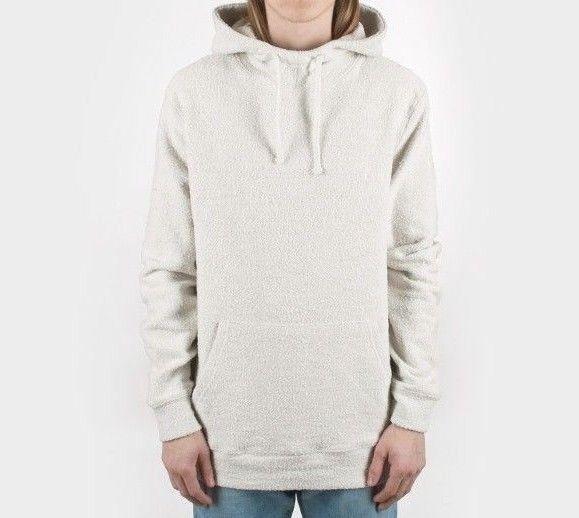 Stussy Slub Terry Cloth Hood Natural Bone Hood Sweater Drawstring Logo 118259N