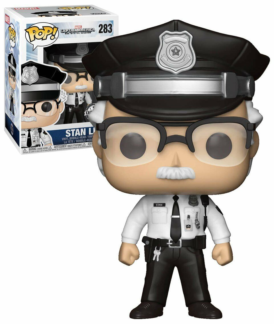 Funko POP Vinyl - Stan Lee - Captain America  The Winter Soldier - Police Cameo