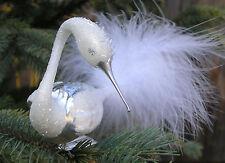 White Swan Ornament, Christmas Ornament, Bird Ornament, Feather Ornaments
