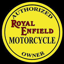 ROYAL ENFIELD AUTHORIZED OWNER METAL DRINKS COASTER,ENAMELLED FINISH,