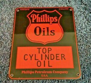 VINTAGE-PHILLIPS-66-GASOLINE-PORCELAIN-PORCELAIN-LOOKING-METAL-GAS-OIL-SIGN