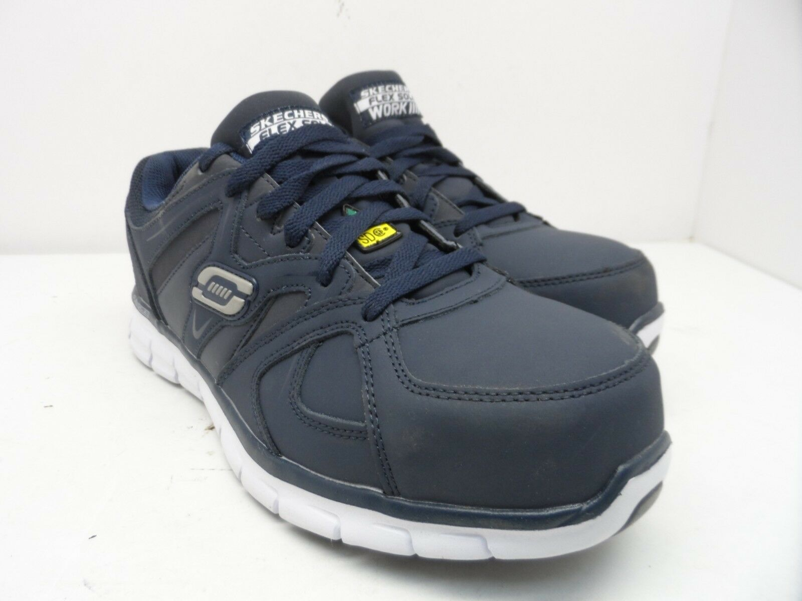 Skechers Work Men's Synergy Ekron Alloy Toe Work shoes Navy Size 9M