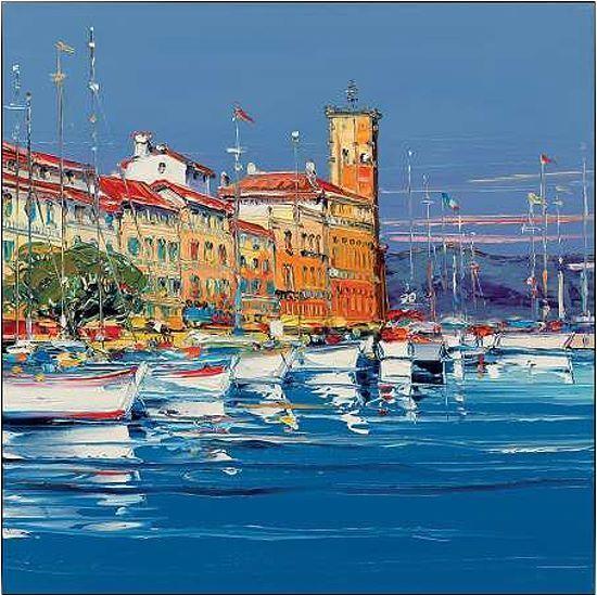 Corbiere  port de la ciotat stretcher-image screen port provence coast boats