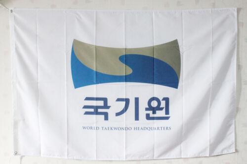 Kukkiwon Flag World Tae Kwon Do Headquarter TKD Studio Gym Display Martial Arts