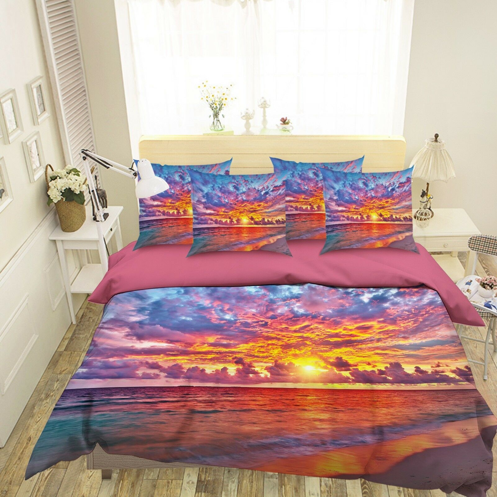 3D orange Dusk 229 Bed Pillowcases Quilt Duvet Single Queen King US Summer