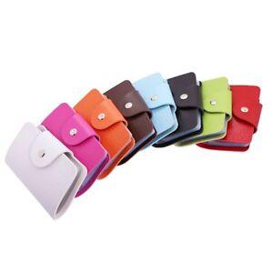 Porte-carte-etui-pochette-credit-ID-visite-pour-24-cartes-Couleurs-de-bonbon