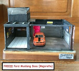 Car-Model-Scene-039-Garage-039-for-1-64-Car-Model-Finished-Piece-Handmade