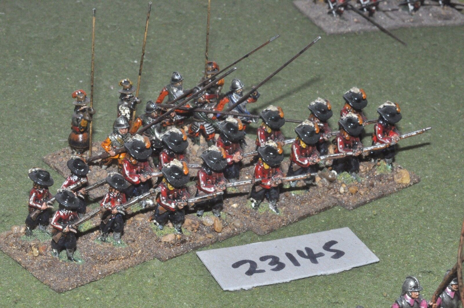 25mm ECW   parliament - pike & shot 24 figures - inf (23145)
