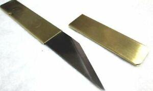 Main Gauche Japonais Couteau Kiridashi Artisanat Couteau De Poche Laiton S7038 Livraison Gratuite-afficher Le Titre D'origine Design Professionnel