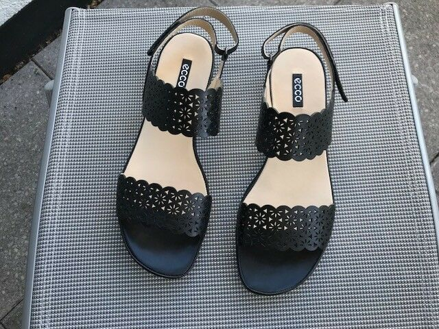 Sandale  Sandaleetten ecco Ecco Gr. 41  schwarz   NEU   ungetragen   Leder   TOP