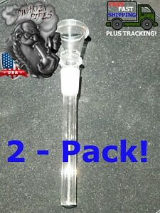Details about 2 Pack: Glass Downstem With Bowl 14MM Male For Bong Glass  Water Pipe Replacement