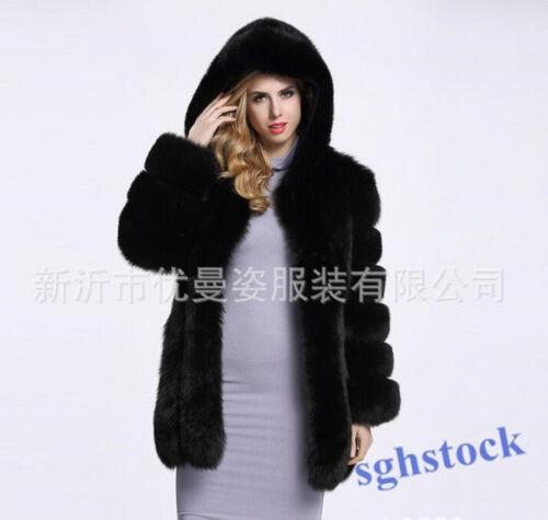 S43 fausse slim d'extérieur fit vêtements 2019 mi manteaux d'hiver mollet neige capuche manteau dames fourrure Hn8f6