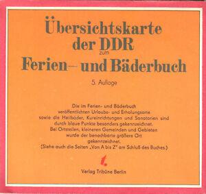 Übersichtskarte der DDR zum Ferien- und Bäderbuch, 1978