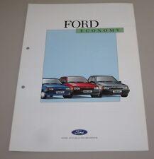 Auto Prospekt Katalog Ford Fiesta Escort Orion Economy Stand Januar 1988!
