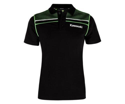 NEUE KOLLEKTION Kawasaki Polo-Shirt Damen schwarz grün von BikerWorld