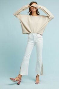 14b3c11b097 Image is loading NWT-ANTHROPOLOGIE-PILCRO-HIGH-RISE-FLARED-JEANS-White